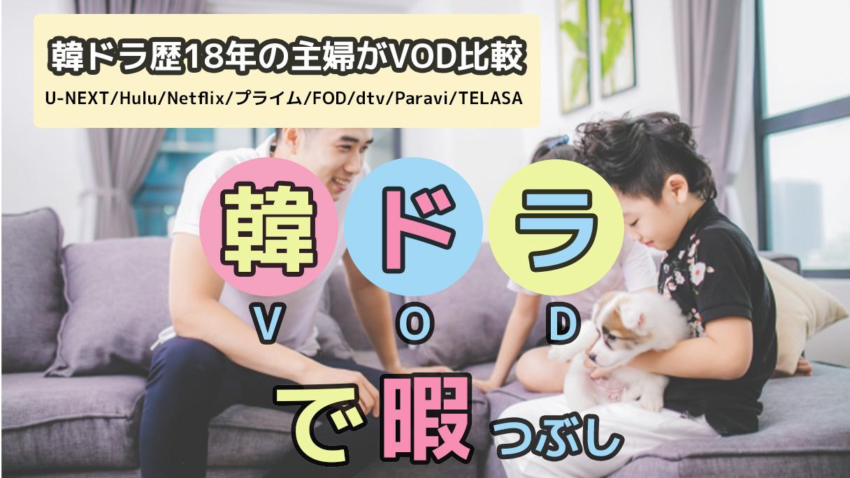 韓ドラ歴18年の主婦がVOD比較|韓国(韓流)ドラマ観るなら、この動画配信サービスがおすすめ